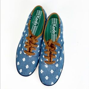 Keds Native Dot Indigo Canvas Low Profile Sneaker